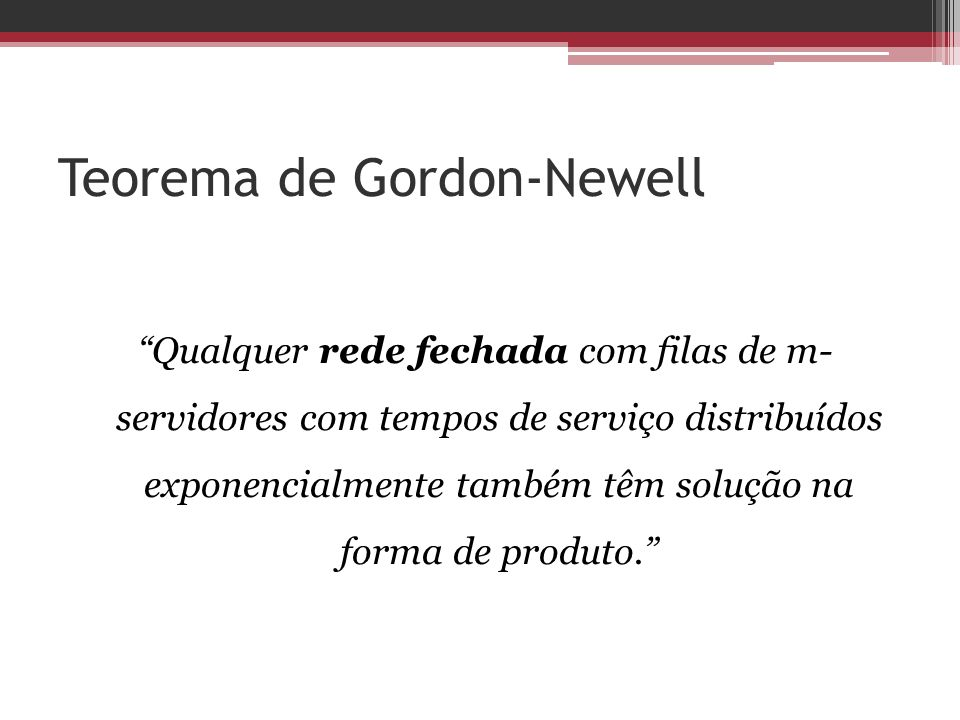 Teorema de Gordon-Newell