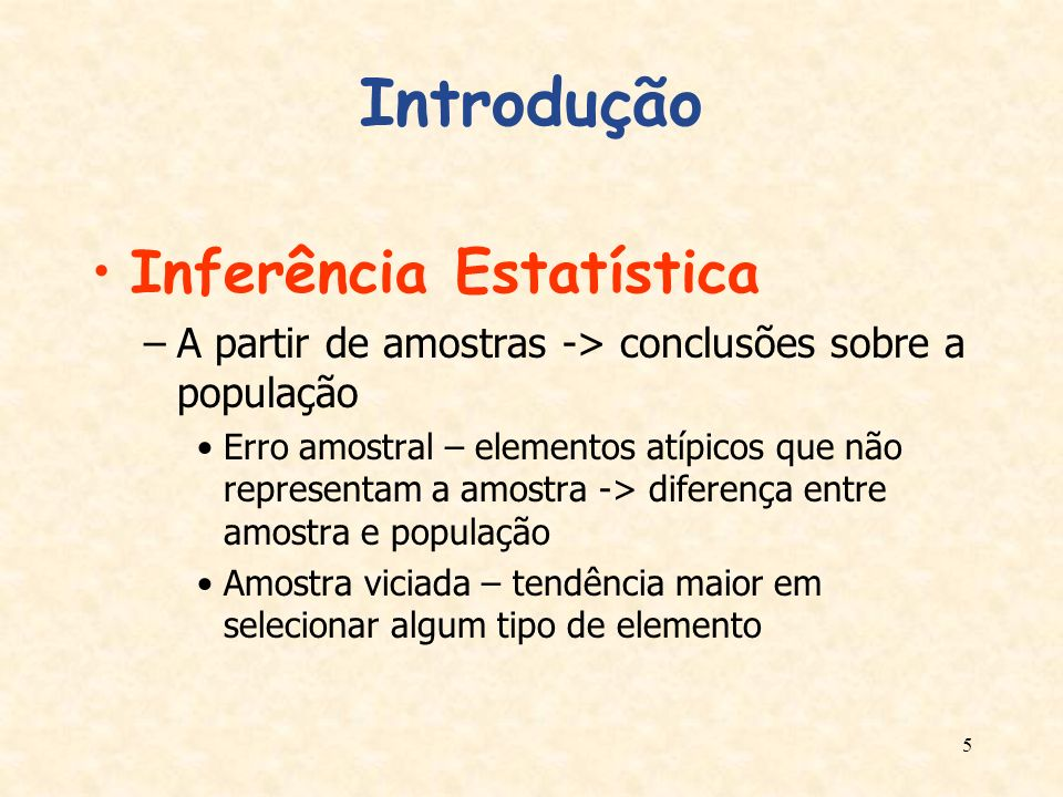 Introdução Inferência Estatística