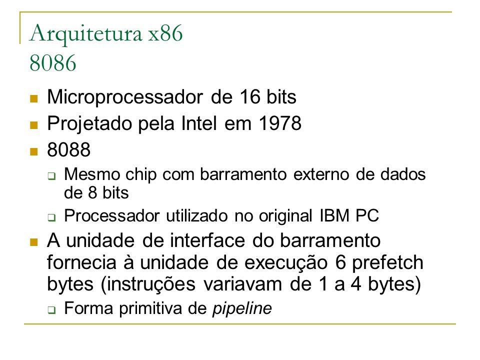 Arquitetura x86 8086 Microprocessador de 16 bits