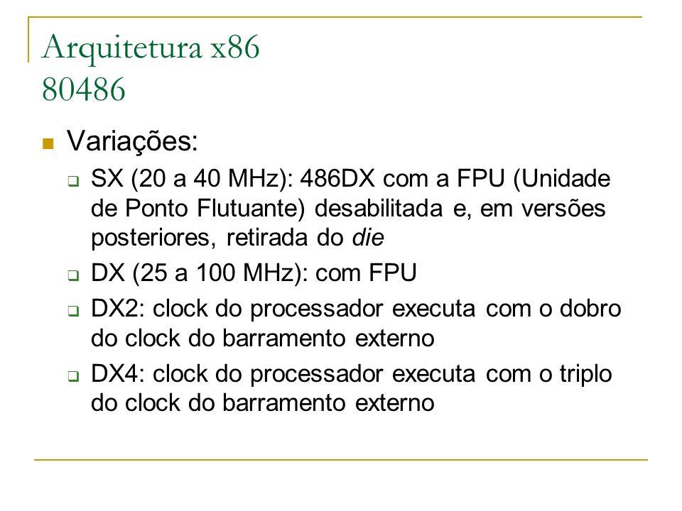 Arquitetura x86 80486 Variações:
