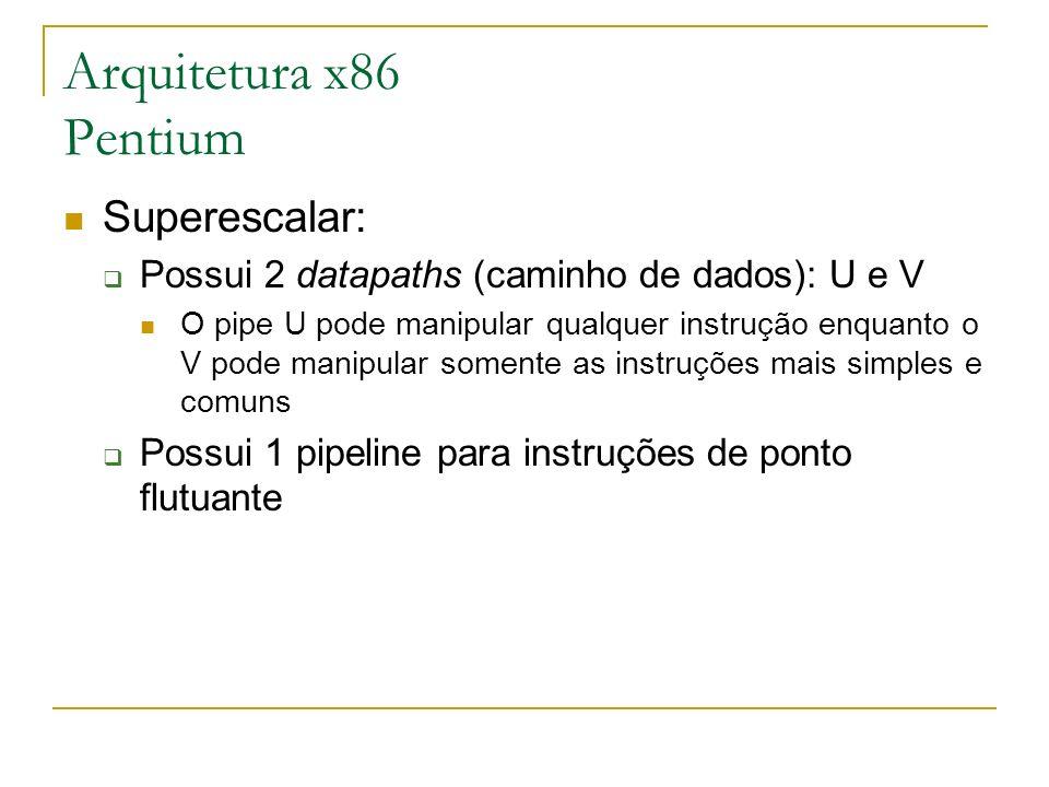 Arquitetura x86 Pentium Superescalar: