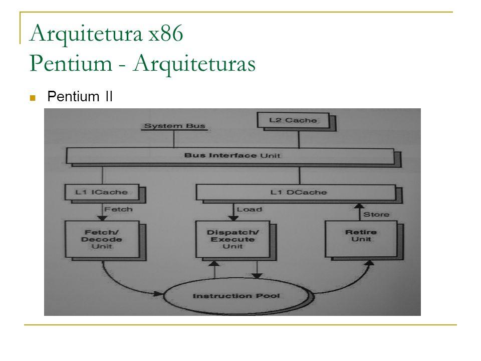 Arquitetura x86 Pentium - Arquiteturas