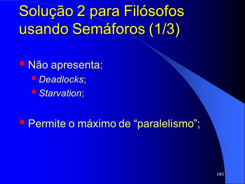 Solução 2 para Filósofos usando Semáforos (1/3)