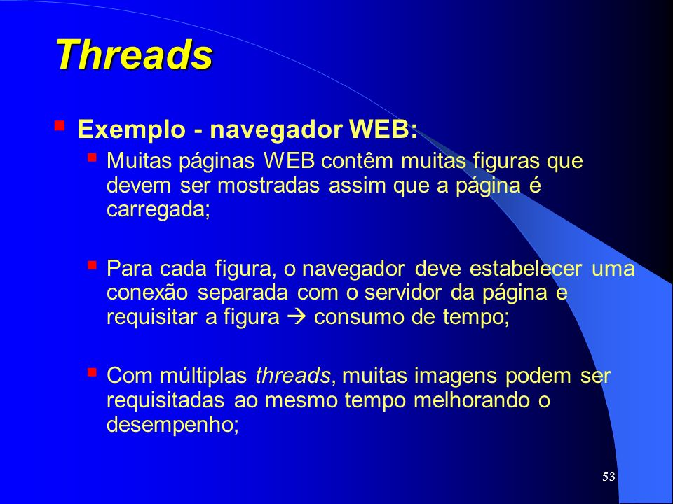 Threads Exemplo - navegador WEB: