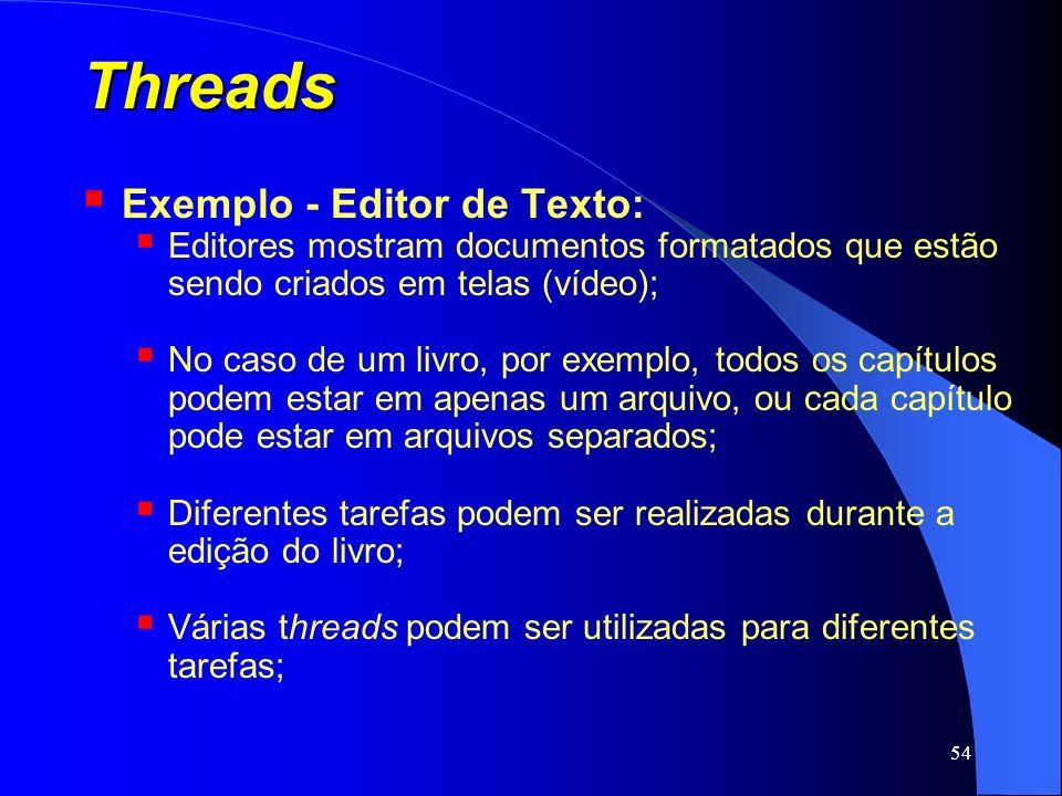 Threads Exemplo - Editor de Texto: