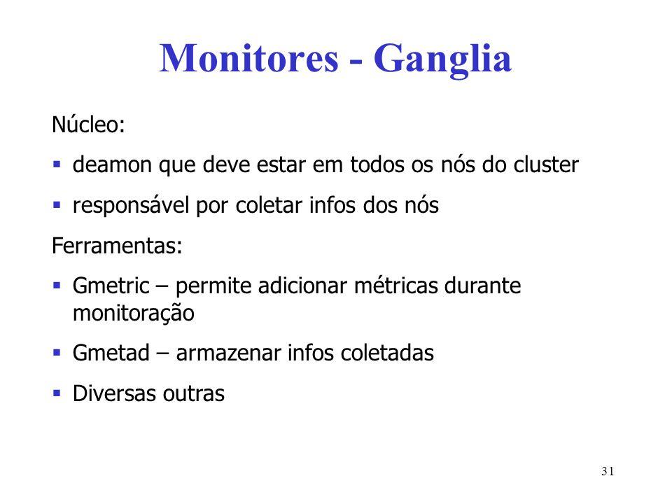 Monitores - Ganglia Núcleo: