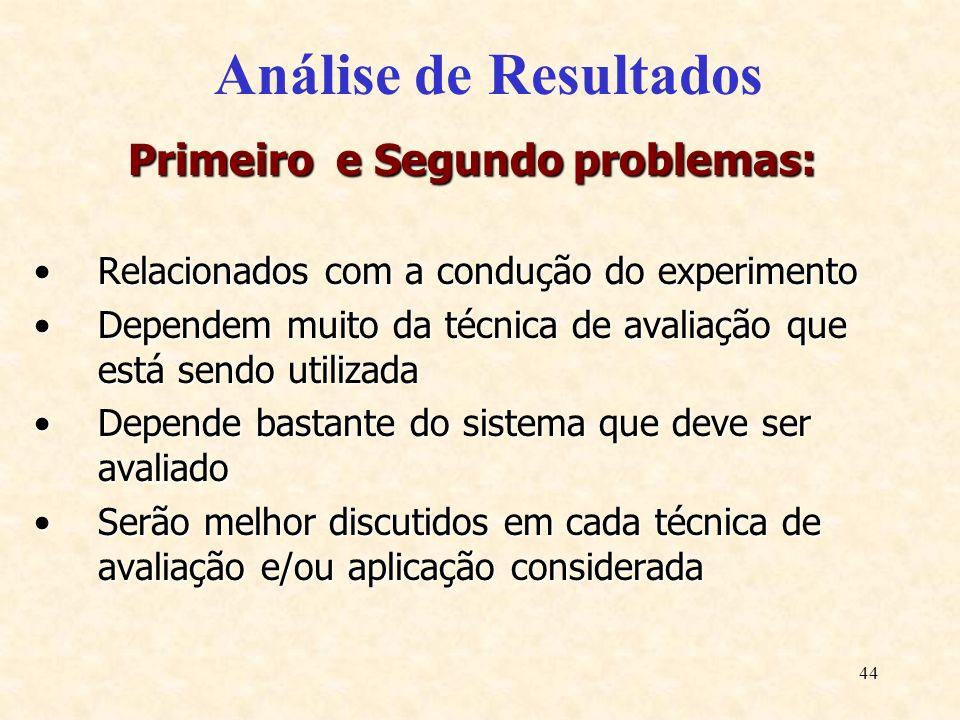 Primeiro e Segundo problemas: