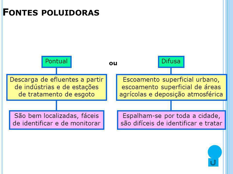 Fontes poluidoras Pontual