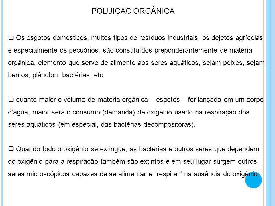 POLUIÇÃO ORGÂNICA