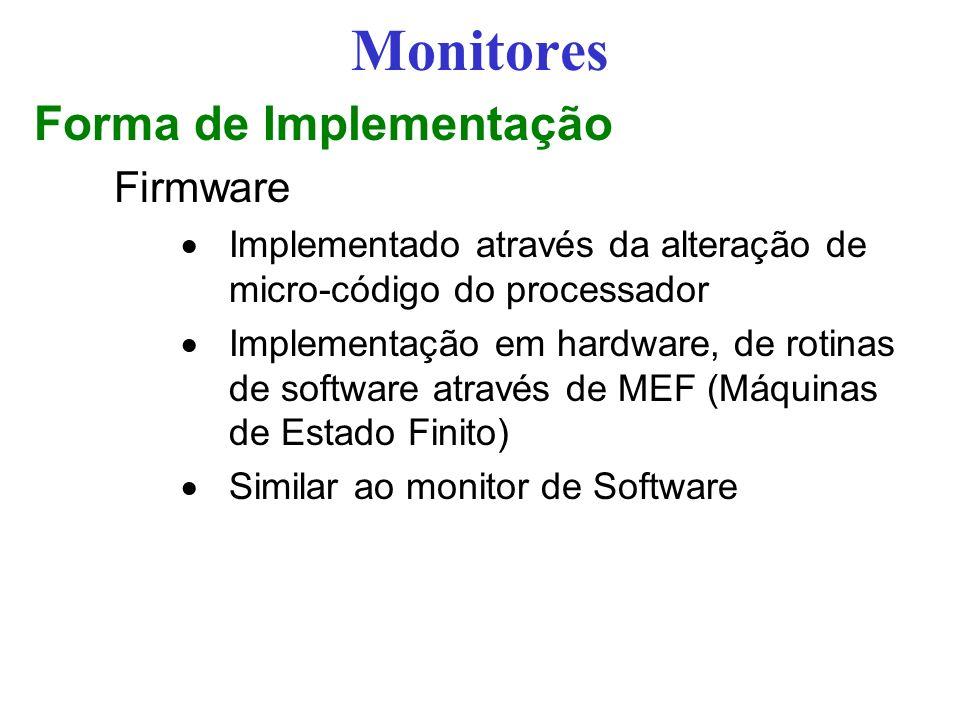 Monitores Forma de Implementação Firmware