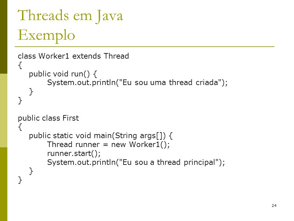 Threads em Java Exemplo