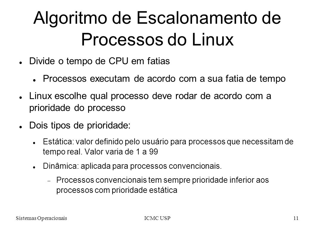 Algoritmo de Escalonamento de Processos do Linux