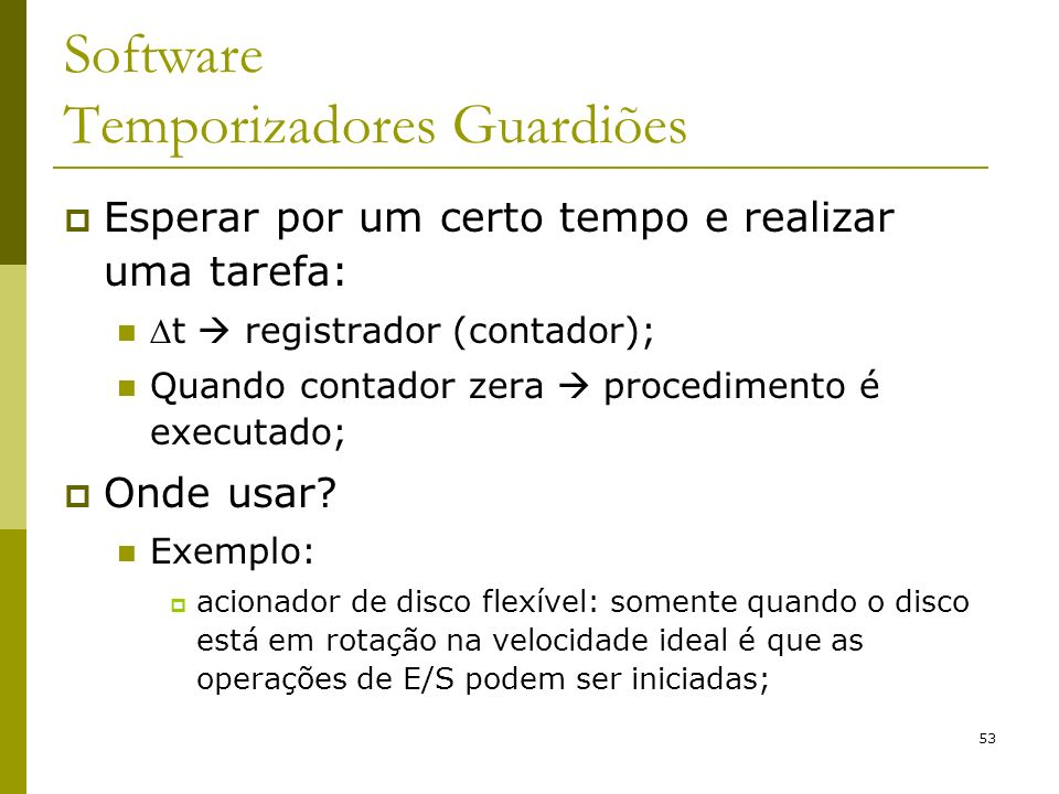 Software Temporizadores Guardiões