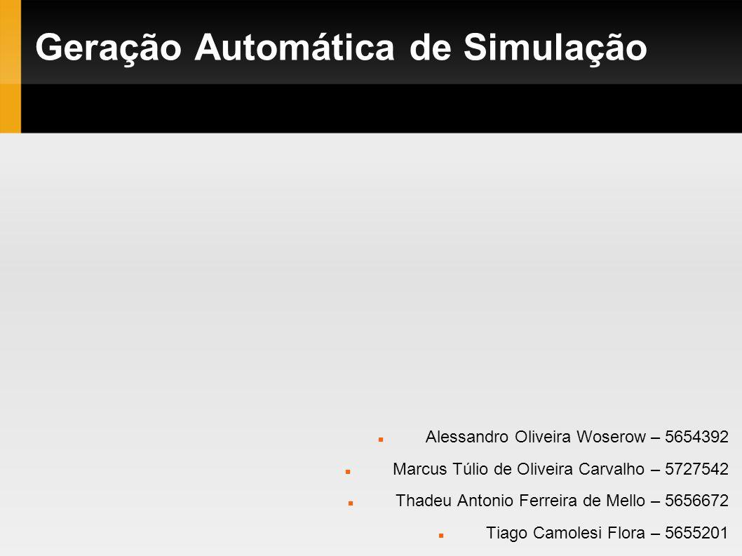 Geração Automática de Simulação