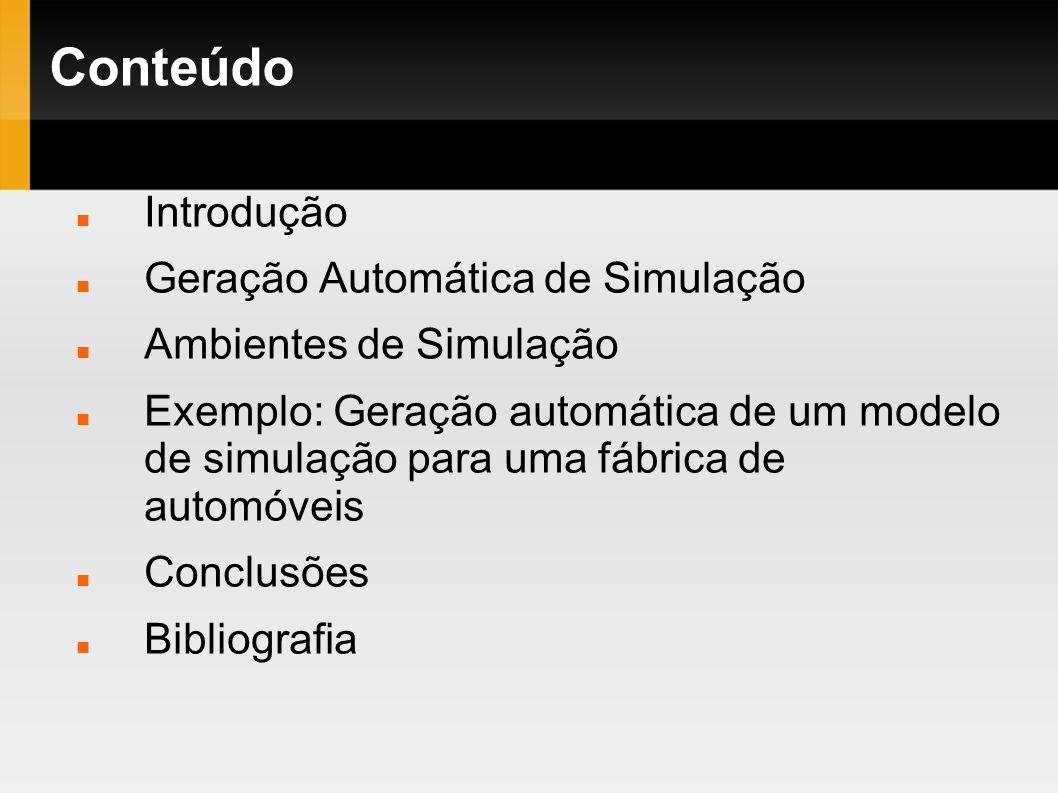 Conteúdo Introdução Geração Automática de Simulação