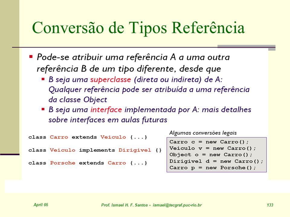 Conversão de Tipos Referência