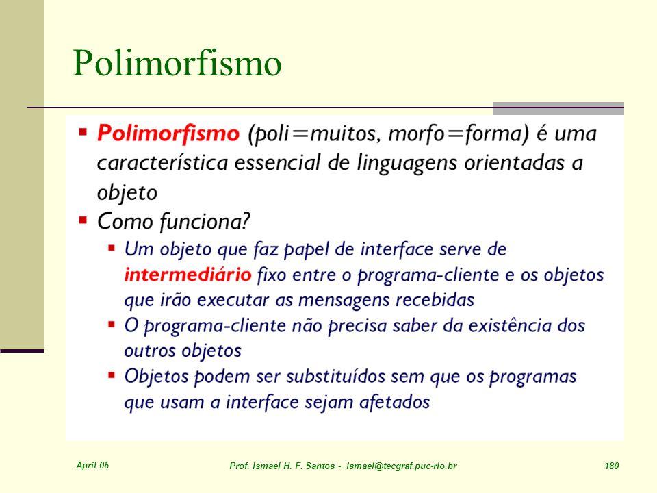 Polimorfismo April 05. Prof. Ismael H. F.