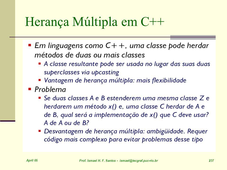 Herança Múltipla em C++