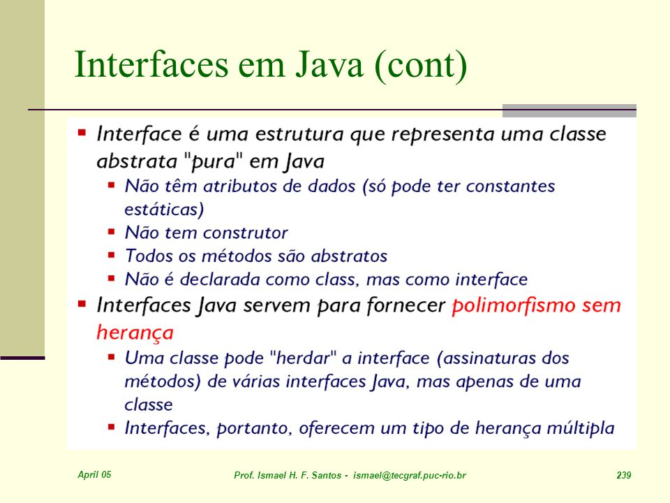 Interfaces em Java (cont)