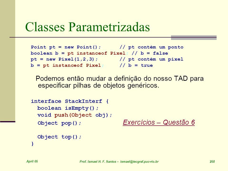 Classes Parametrizadas