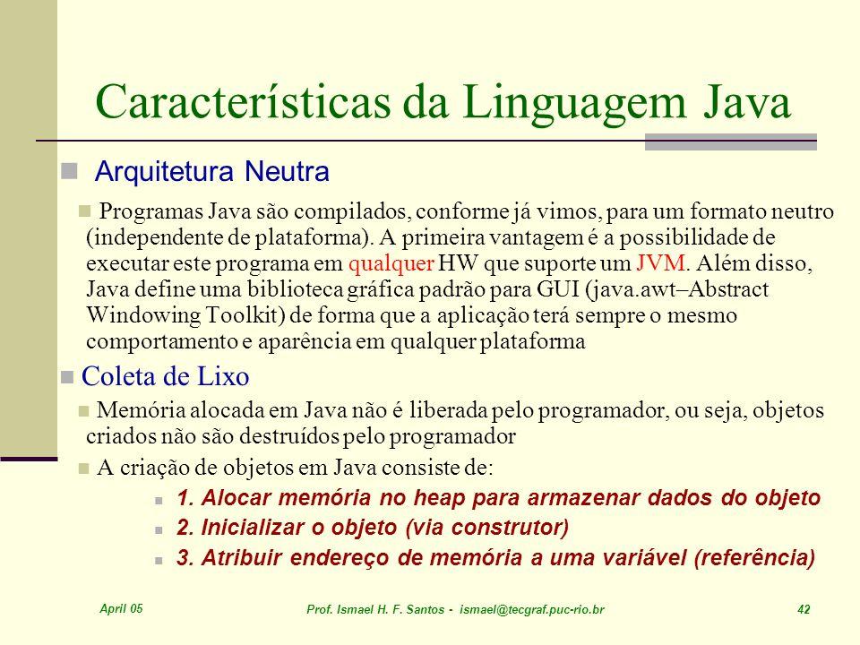 Características da Linguagem Java