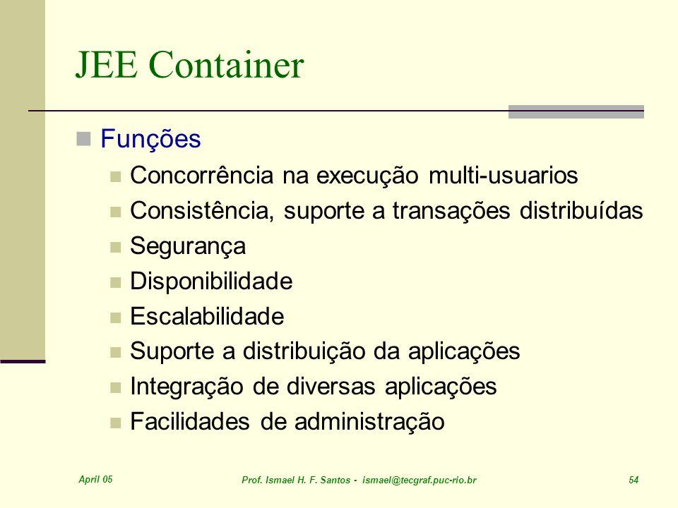 JEE Container Funções Concorrência na execução multi-usuarios