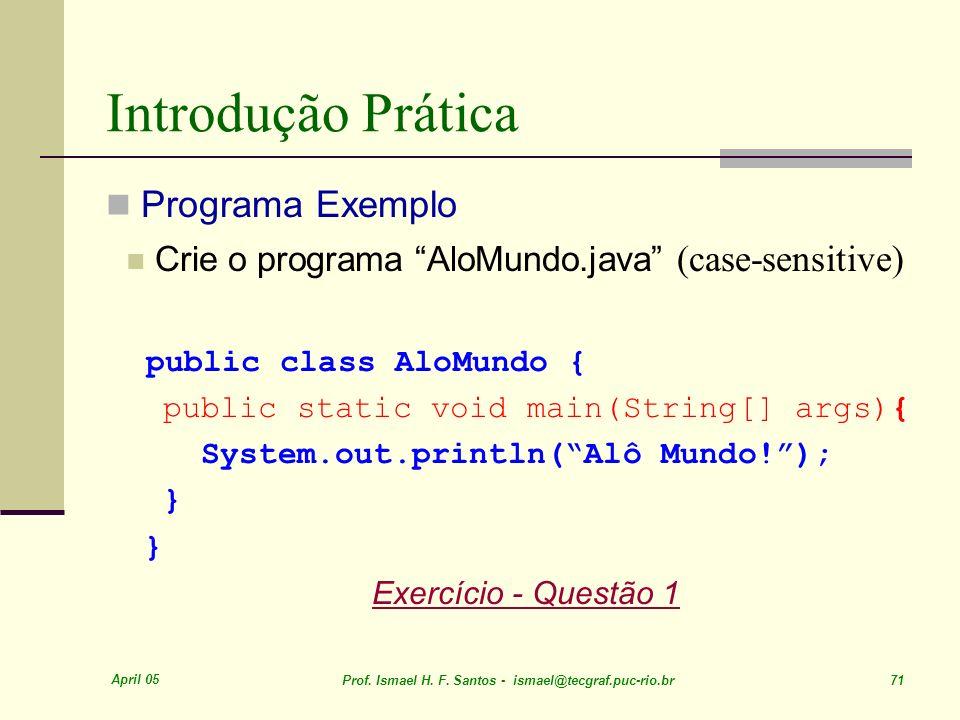 Introdução Prática Programa Exemplo