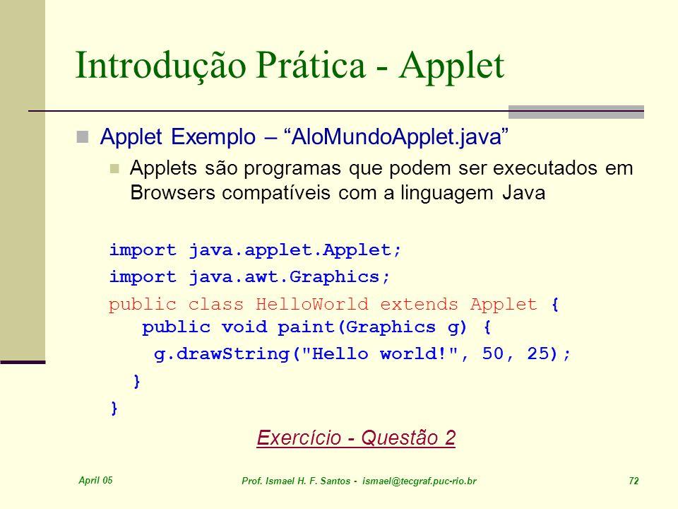 Introdução Prática - Applet
