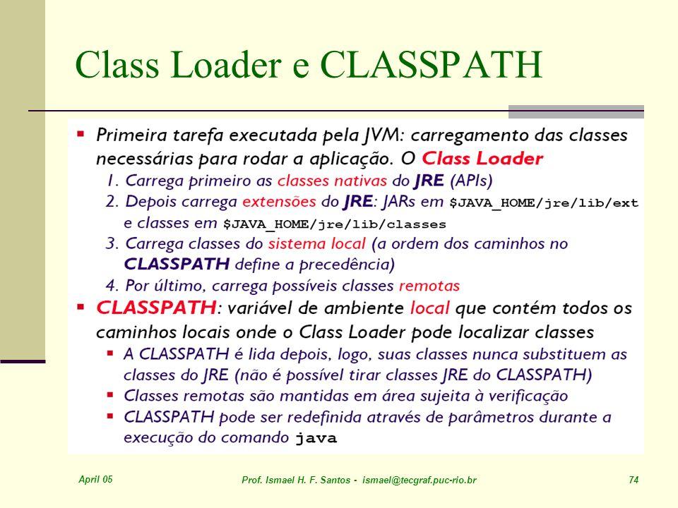 Class Loader e CLASSPATH