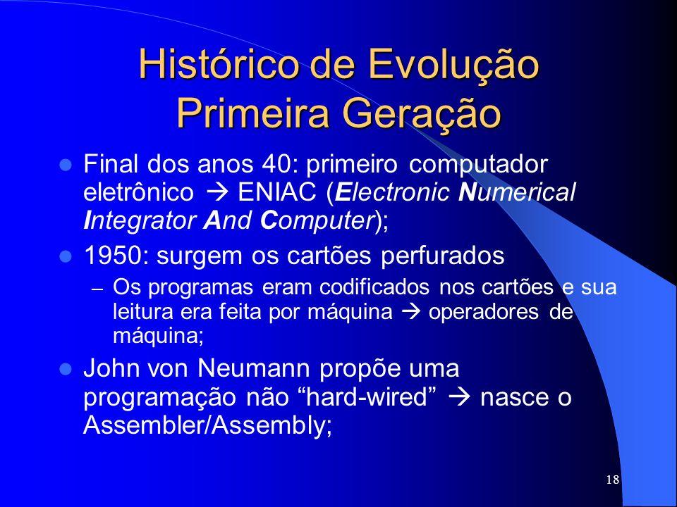 Histórico de Evolução Primeira Geração