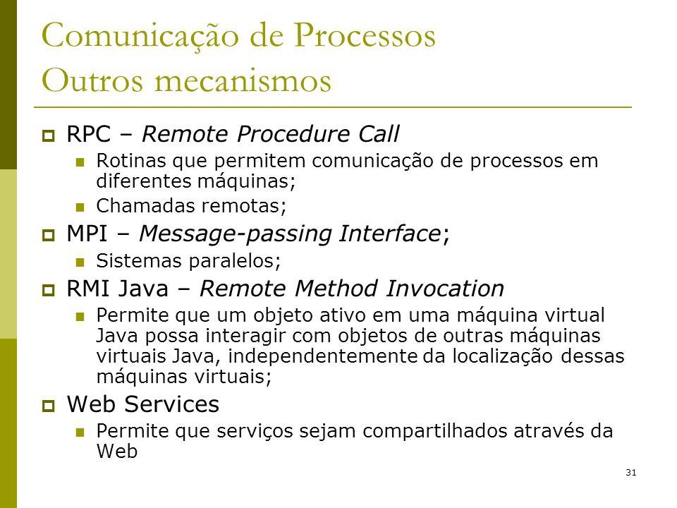 Comunicação de Processos Outros mecanismos