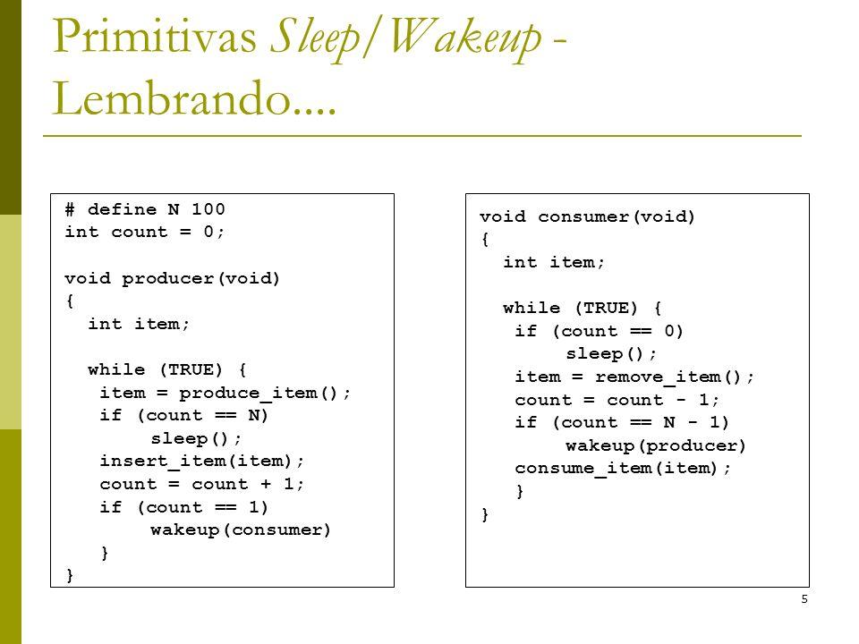 Primitivas Sleep/Wakeup - Lembrando....