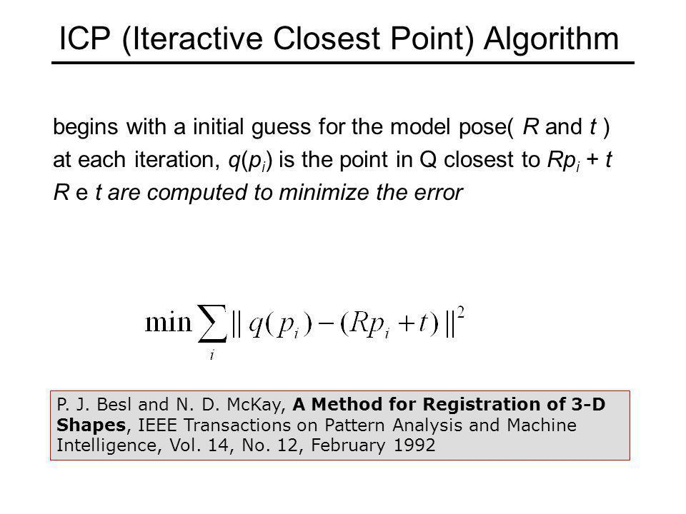 ICP (Iteractive Closest Point) Algorithm