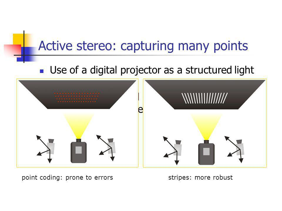 Active stereo: capturing many points