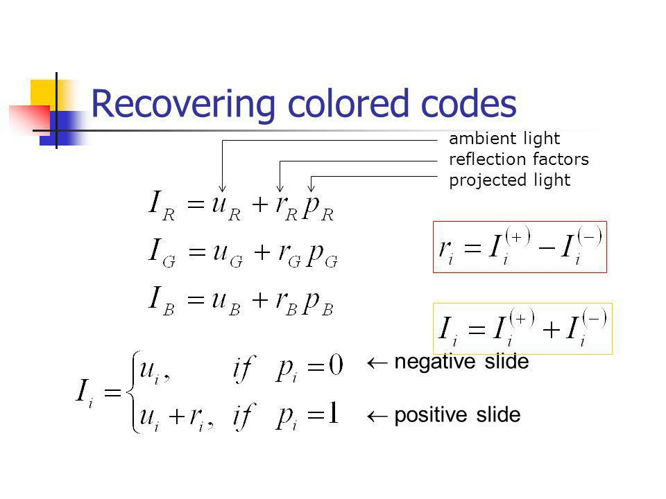 Recovering colored codes
