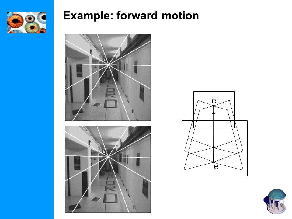 Example: forward motion