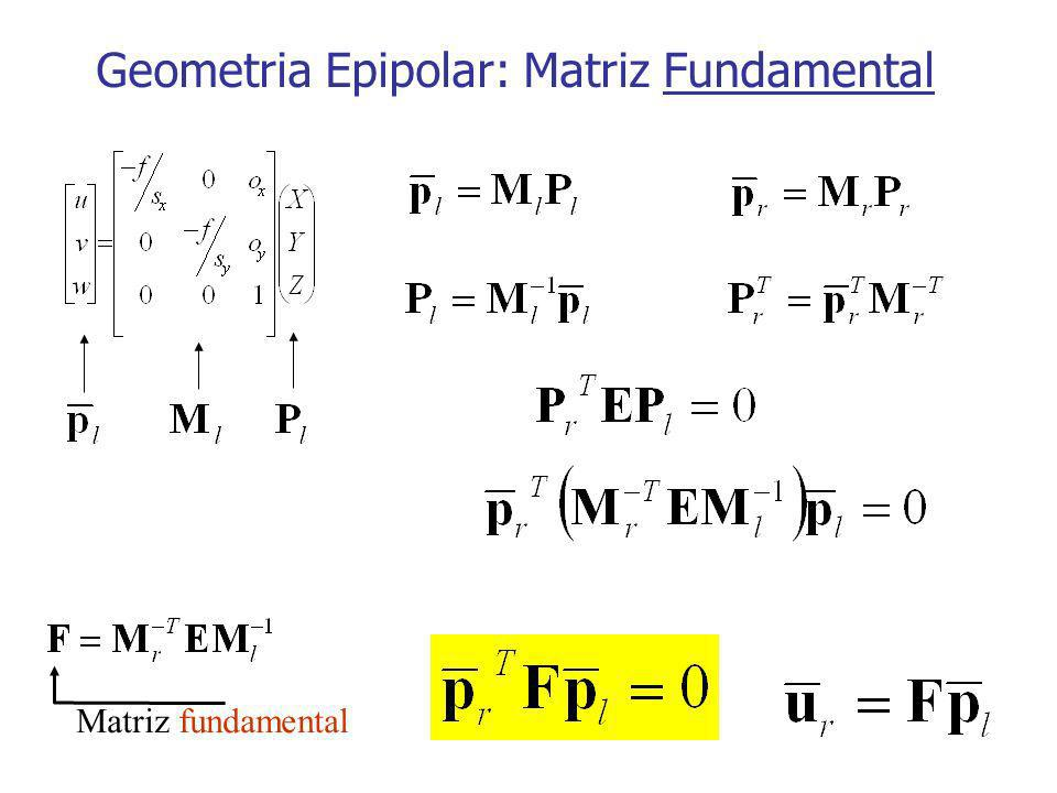 Geometria Epipolar: Matriz Fundamental