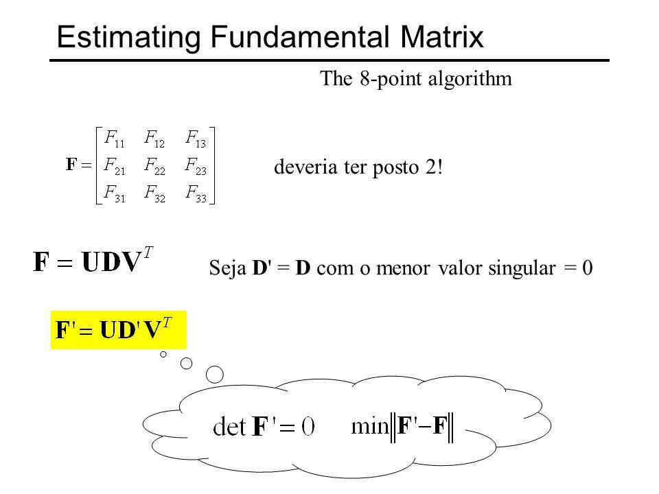 Estimating Fundamental Matrix