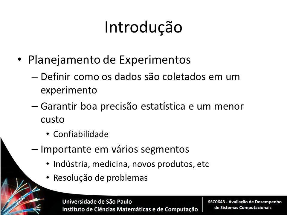 Introdução Planejamento de Experimentos