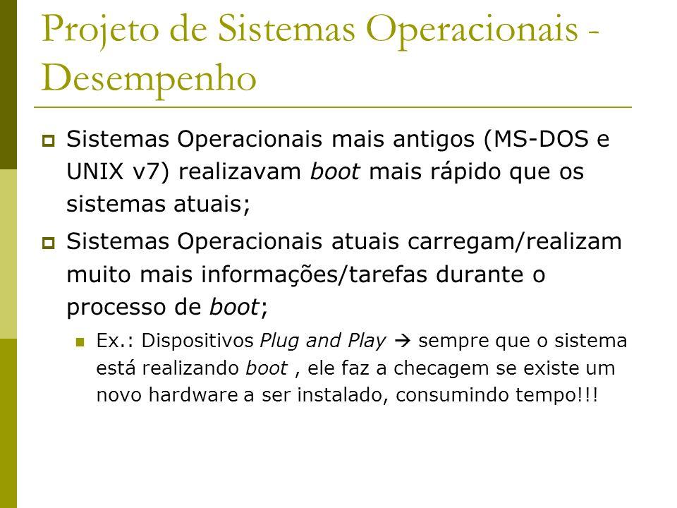 Projeto de Sistemas Operacionais - Desempenho