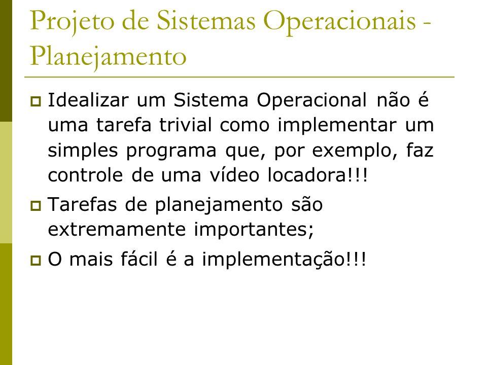 Projeto de Sistemas Operacionais - Planejamento
