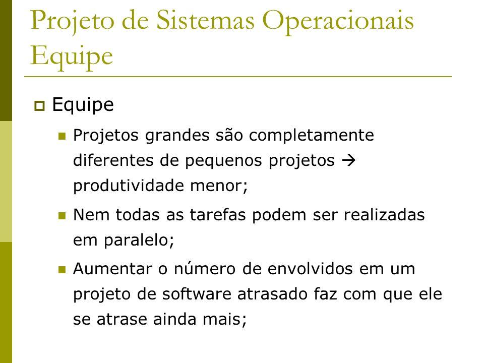 Projeto de Sistemas Operacionais Equipe