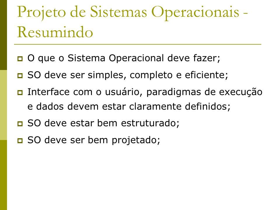 Projeto de Sistemas Operacionais - Resumindo