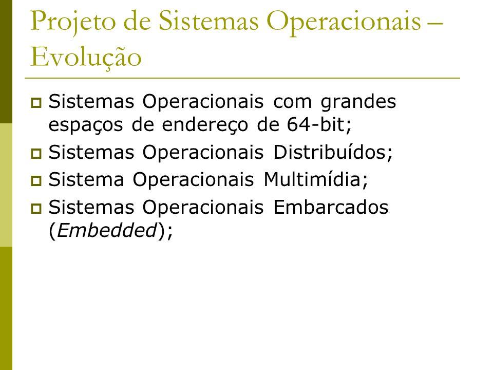 Projeto de Sistemas Operacionais – Evolução