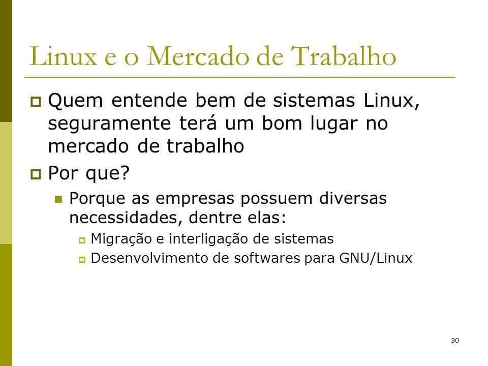 Linux e o Mercado de Trabalho