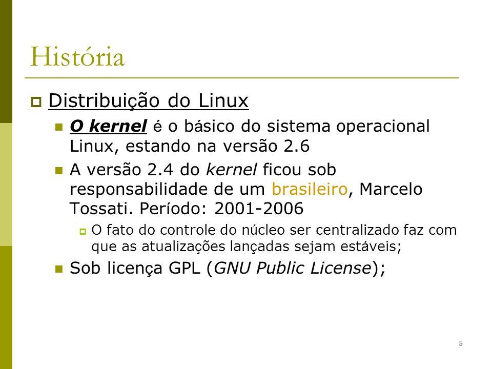 História Distribuição do Linux