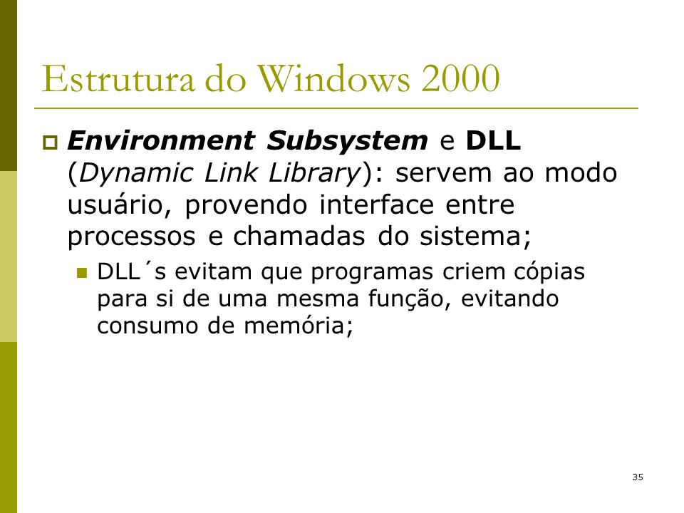 Estrutura do Windows 2000