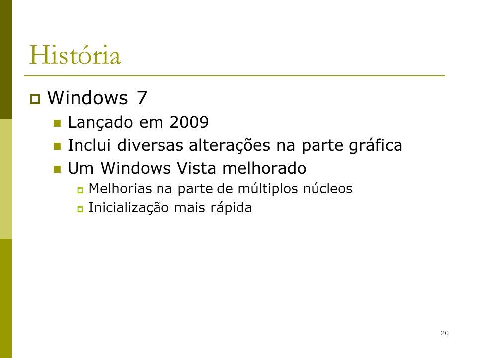 História Windows 7 Lançado em 2009