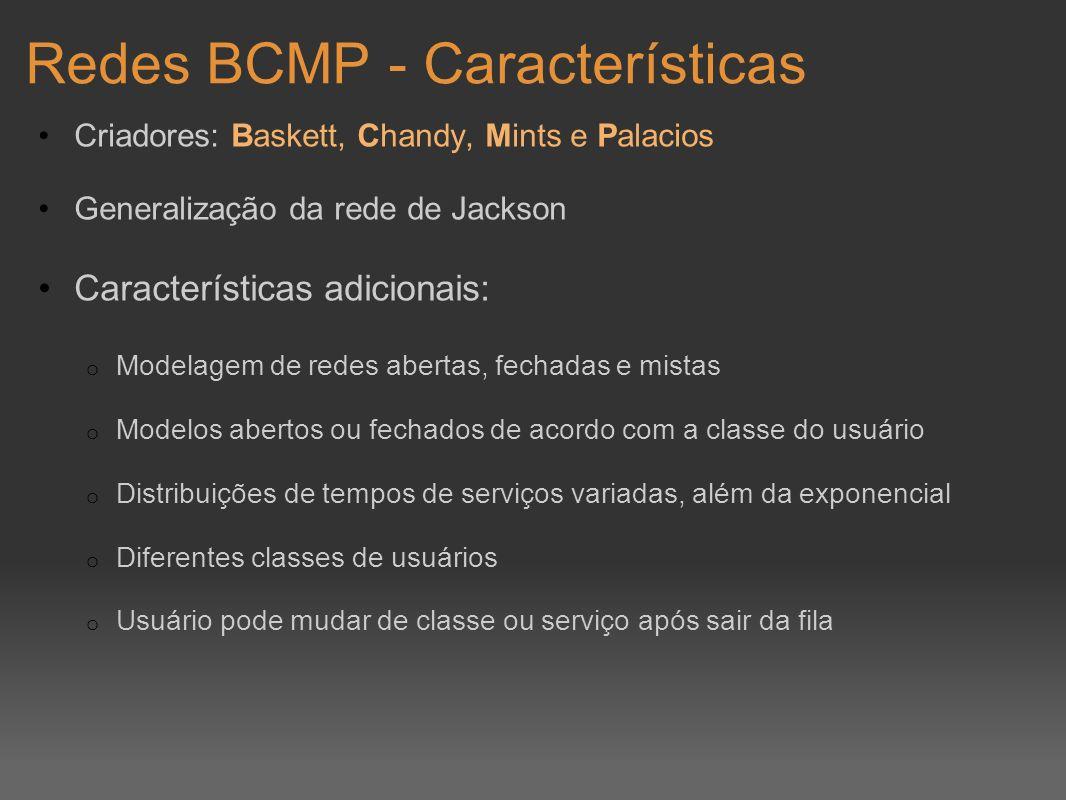 Redes BCMP - Características