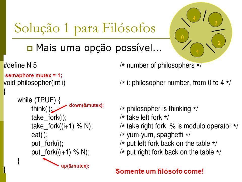 Solução 1 para Filósofos